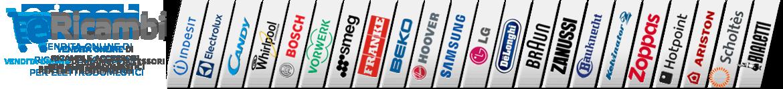 Vendita online di ricambi e accessori per elettrodomestici - Indesit - Electrolux - Candy - Whirlpool - Bosch - Vorwerk Folletto e Bimby - Smag - Franke - Beko - Hoover - Samsung - Lg - De Longhi - Braun - Zanussi - Zoppas - Hotpoint - Ariston - Bialetti
